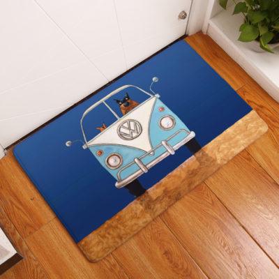 deurmat blauw